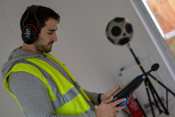A Soundtesting Engineer completing a sound test