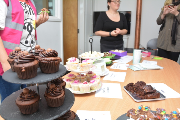 a selection of cakes for macmillan coffee morning