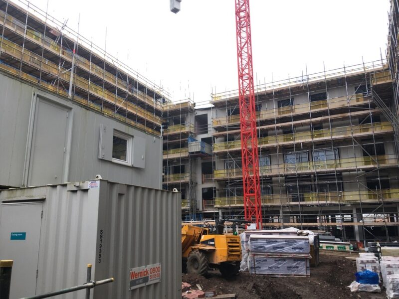 A photo of the building site at Bradford street